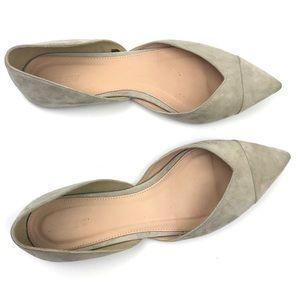 J.CREW Sadie Cream Pointed Flats